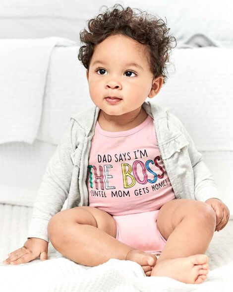 Dad Says I'm The Boss Collectible Bodysuit