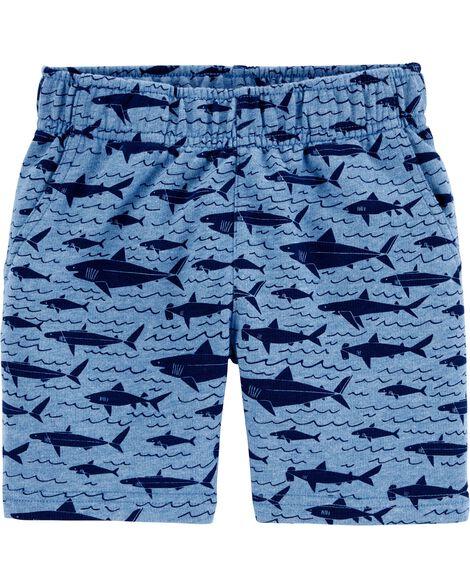 Pantalon à enfiler en jersey bouclette motif de requins