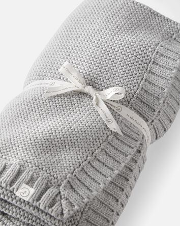 Organic Cotton Seed Stitch Blanket