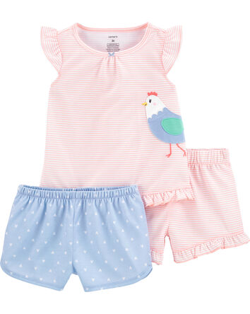 Pyjama 3 pièces en polyester motif...