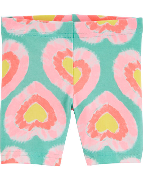 Tie-Dye Heart Playground Shorts