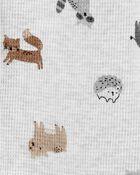 2-Piece Animal Print Snap-Up Sleep & Play & Cap Set, , hi-res
