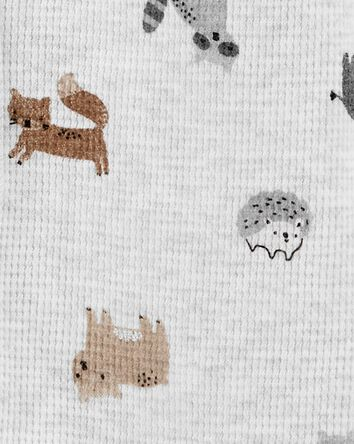 2-Piece Animal Print Snap-Up Sleep...