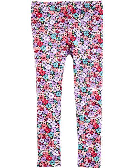 Legging à motif floral