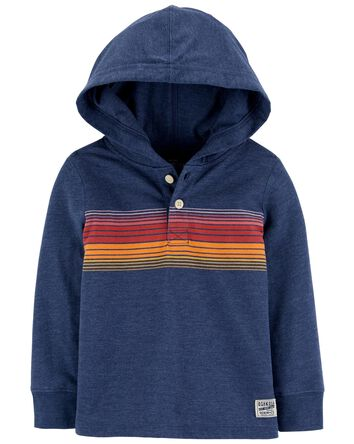 Hooded Rugby Pullover