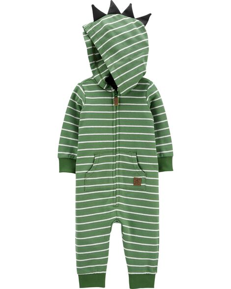 Hooded Striped Jumpsuit