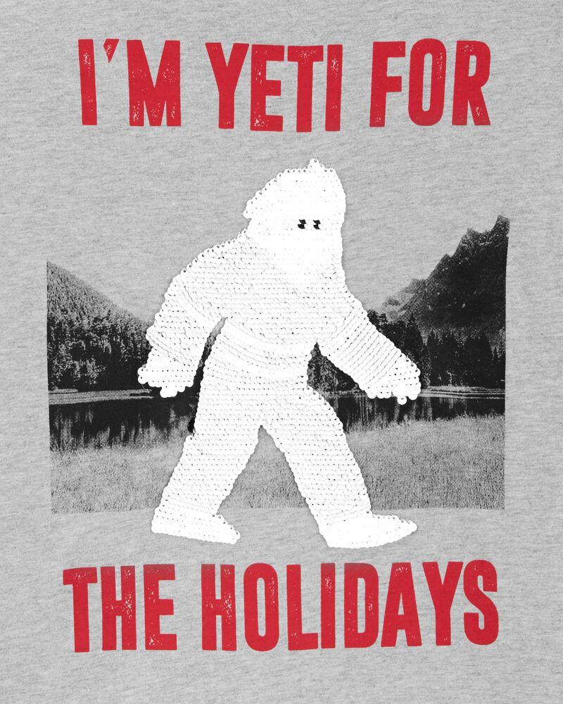 T-shirt à paillettes réversibles yéti, , hi-res