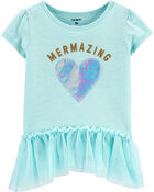 Mermazing Peplum Top, , hi-res