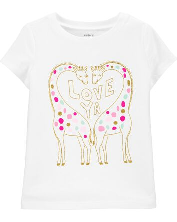T-shirt en jersey à girafe