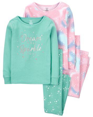 4-Piece Dream 100% Snug Fit Cotton...
