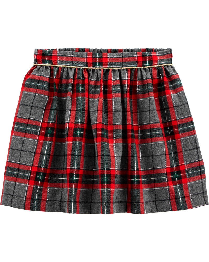 Holiday Plaid Skirt, , hi-res