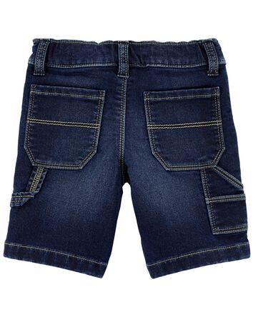 Stretch Denim Carpenter Shorts