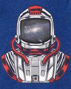 Astronaut Action Graphic Snow Yarn Tee, , hi-res