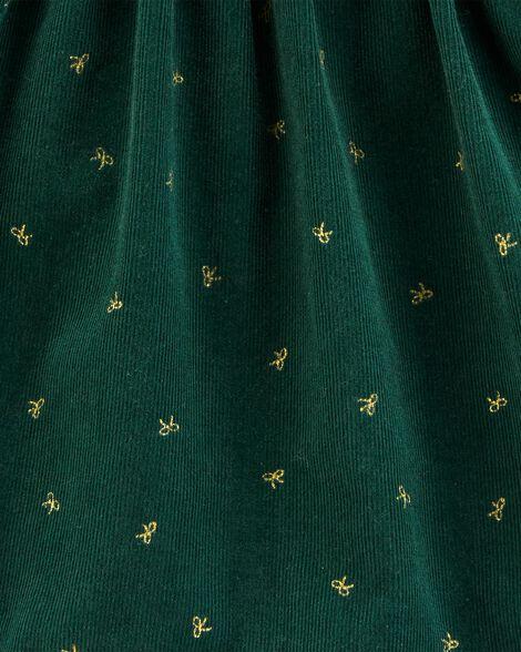 Robe en velours côtelé pour les fêtes à motif de nœuds