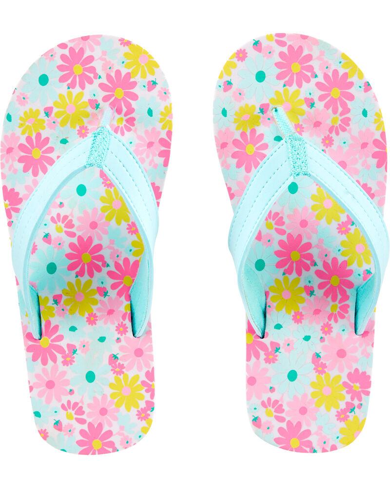 Sandales de plage fleuries, , hi-res