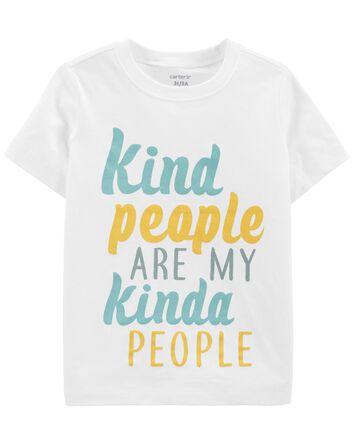 T-shirt en jersey Kind People