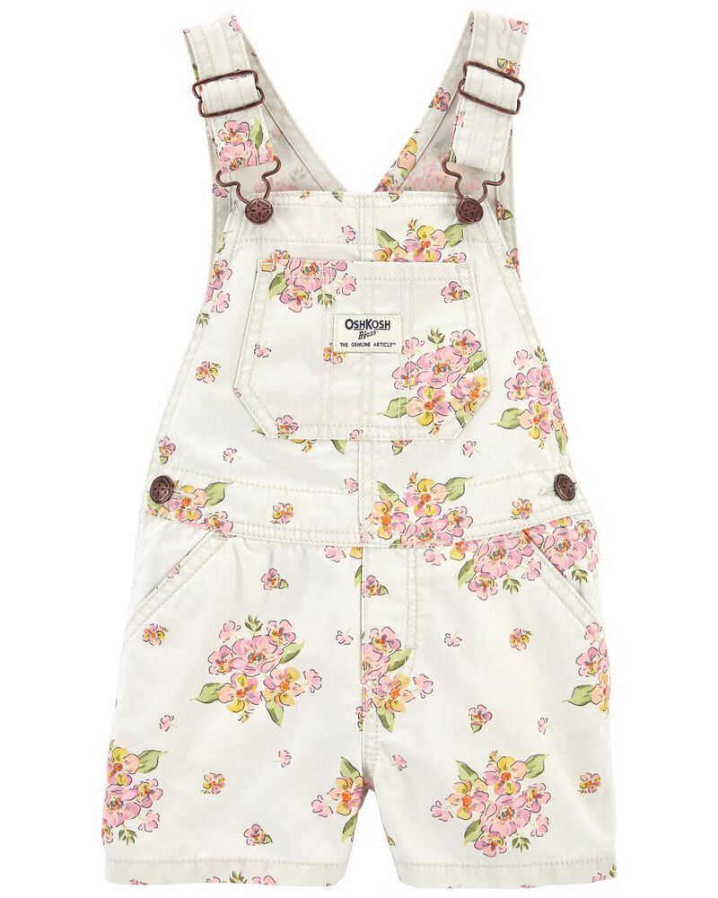 Floral Canvas Shortalls, , hi-res