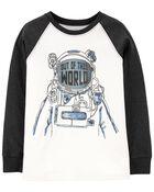 T-shirt à imprimé d'astronaute, , hi-res