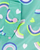 Fleece-Lined Rainbow Rain Jacket, , hi-res