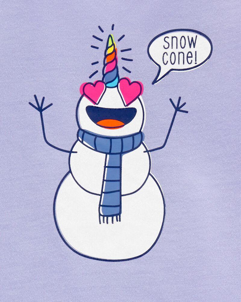 Pyjama 2 pièces licorne bonhomme de neige, , hi-res