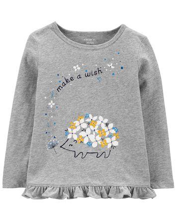 T-shirt en jersey porc-épic