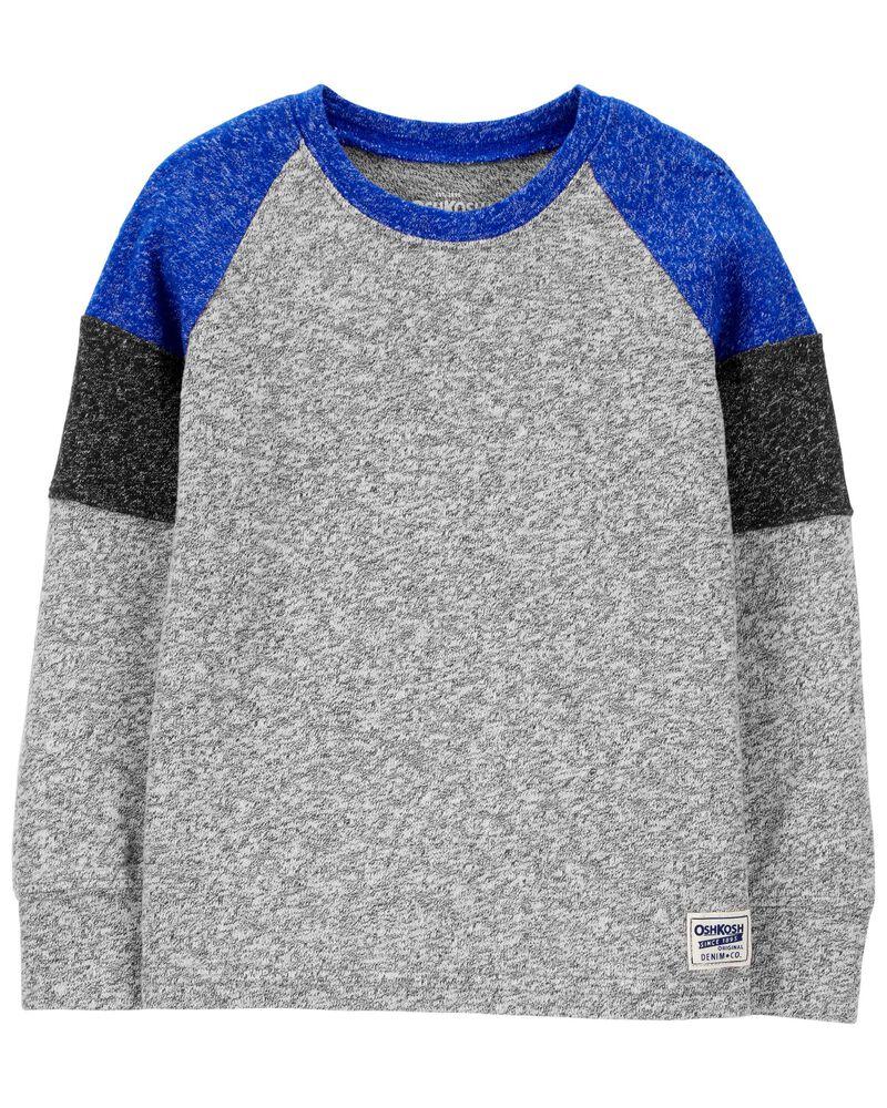 T-shirt en jersey suédé à manches raglan, , hi-res