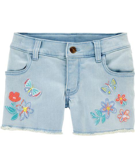 Butterfly Denim Shorts