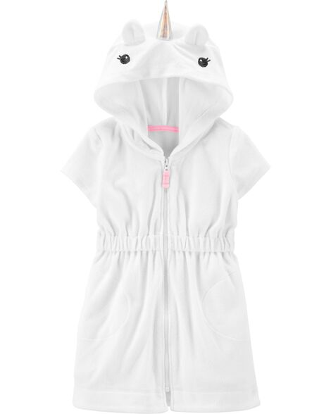 Unicorn Hooded Cover-Up