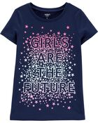 Girls Are The Future Jersey Tee, , hi-res