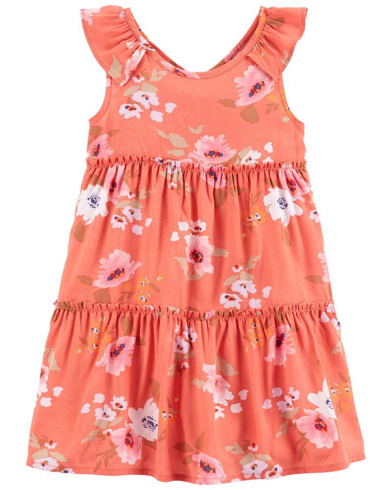 Tiered Ruffle Dress, , hi-res
