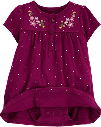 2-Piece Floral Bodysuit Dress & Car...
