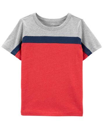 T-shirt en jersey de couleurs contr...