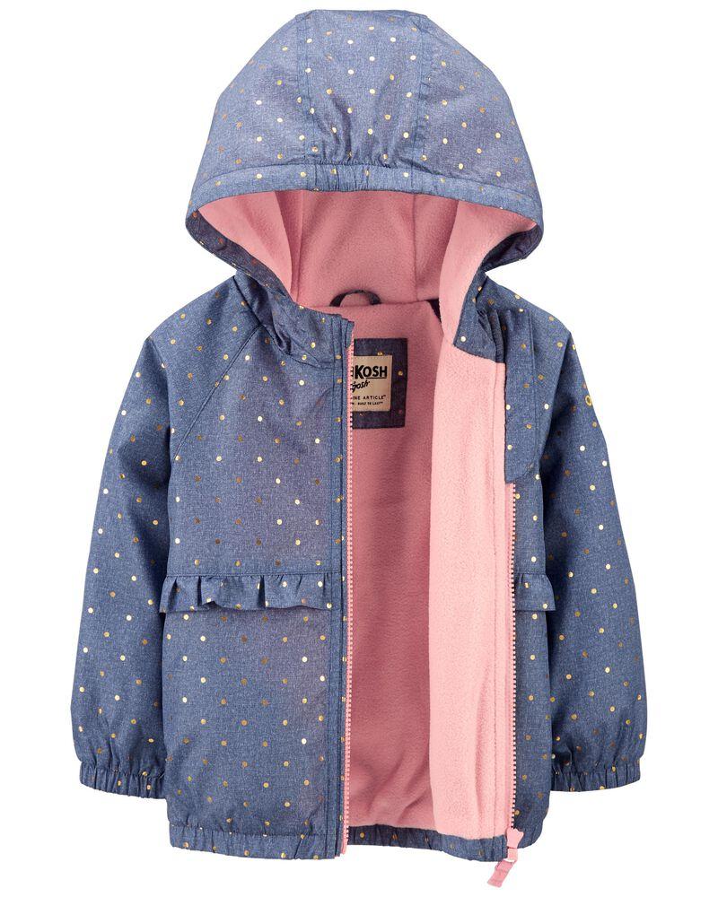 Sparkle Polka Dot Fleece-Lined Jacket, , hi-res
