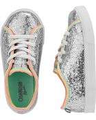 Silver Glitter Sneakers, , hi-res