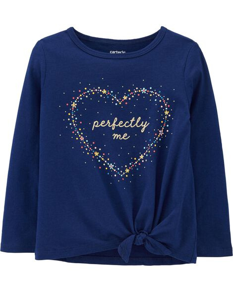Perfectly Me Tie-Front Jersey Tee