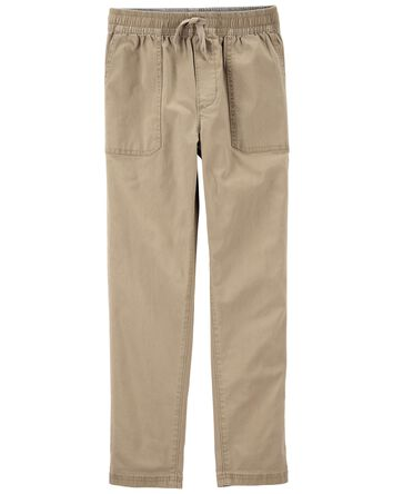 Pull-on Stretch Canvas Pants