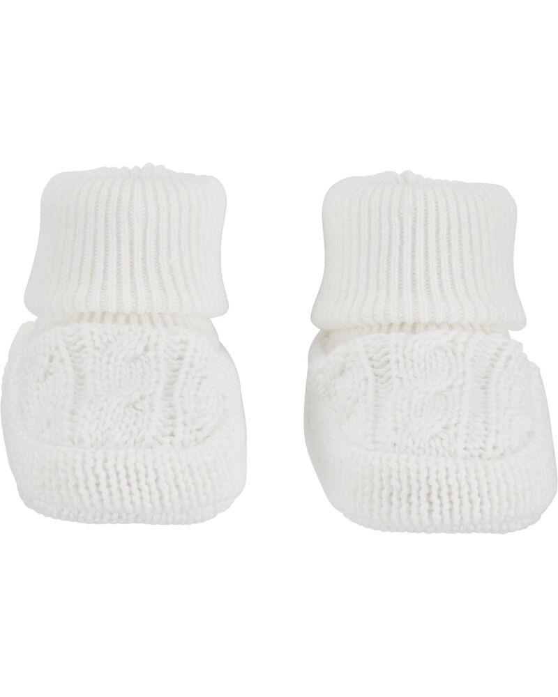 Chaussons en tricot torsadé, , hi-res