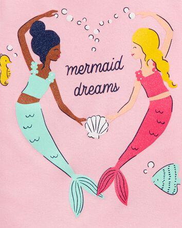 4-Piece Mermaid 100% Snug Fit Cotto...
