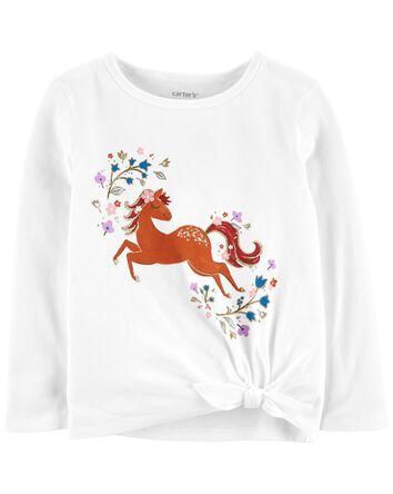 T-shirt en jersey avec licorne