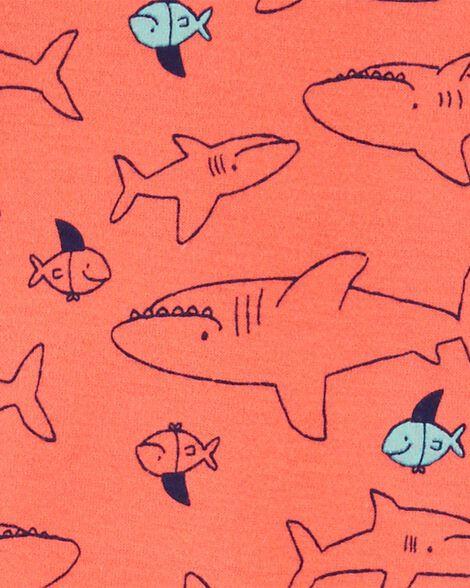 1-Piece Snug Fit Shark Cotton Footless PJs