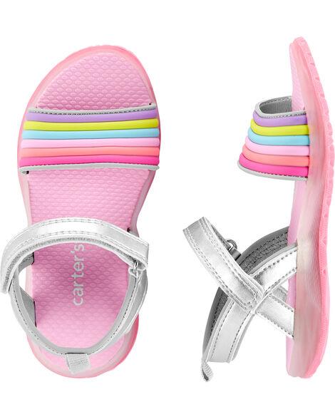 Rainbow Light-Up Sandals