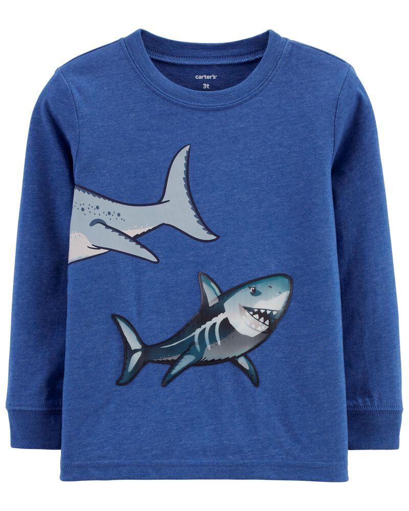 Shark Action Graphic Slub Jersey Tee, , hi-res
