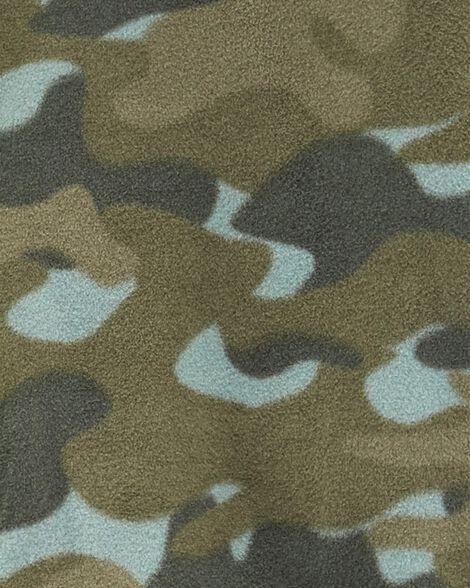 Haut en molleton à imprimé camouflage