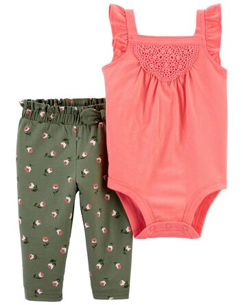 2-Piece Tank Bodysuit Pant Set