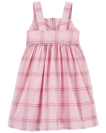 Plaid Button-Front Dress