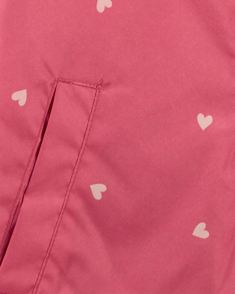 Fleece-Lined Heart Print Jacket, , hi-res