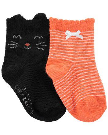 2 paires de chaussettes d'Halloween