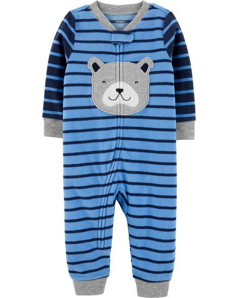 1-Piece Dog Fleece Footless PJs