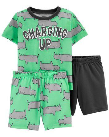 Pyjama 3 pièces de coupe ample moti...
