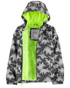 Dino Print Lightweight Windbreaker Jacket, , hi-res